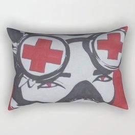 Gas mask kid Rectangular Pillow