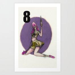 Clown Number 8 Bang Bang!! Art Print