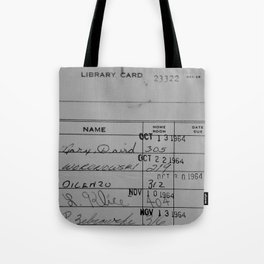 Library Card 23322 Gray Tote Bag