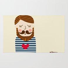 Bearded Sailor Lover Rug