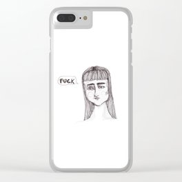 She's swearing Clear iPhone Case