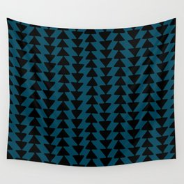 Blue Arrows Wall Tapestry