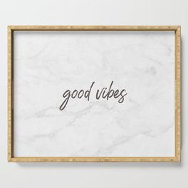 Good Vibes Marble Serving Tray