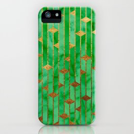 Marble Skyscrapers - Green iPhone Case