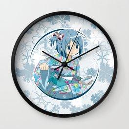 Sayaka Miki - Yukata edit. (rev. 1) Wall Clock