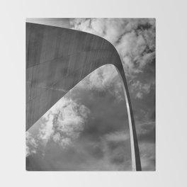 Gateway arch in St-Louis Throw Blanket