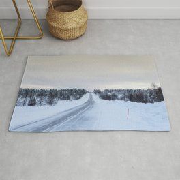 Icy Road in Finland Rug