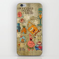 Sailor Jerry Spongebob Tattoo Sheet iPhone & iPod Skin