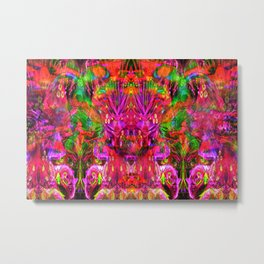 Twins In Psychedelia Metal Print