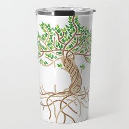 Rope Tree of Life. Rope Dojo 2017 white background Travel Mug