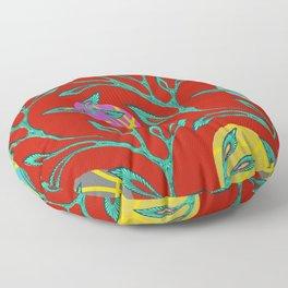 Basketball Flowers Floor Pillow