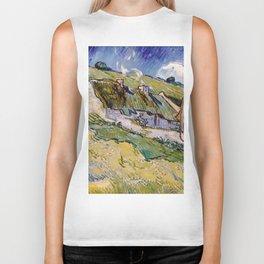 "Vincent van Gogh ""Cottages"" Biker Tank"