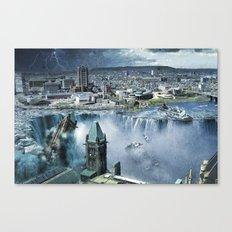 Earth Falls Away Canvas Print