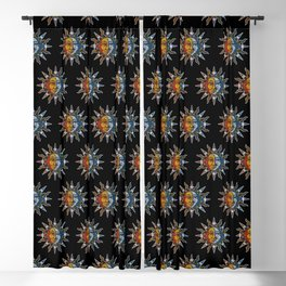 Celestial Mosaic Sun and Moon Blackout Curtain