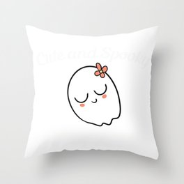 Cute and Spooky | But Mostly Spooky Throw Pillow