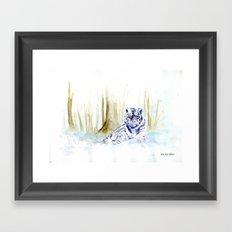 Frost Tiger Framed Art Print