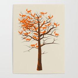 Blazing Fox Tree Poster