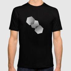 Dancing Hexagons Mens Fitted Tee MEDIUM Black