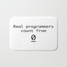 Real programmers count from 0 Bath Mat