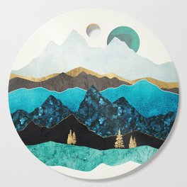Teal Afternoon Cutting Board