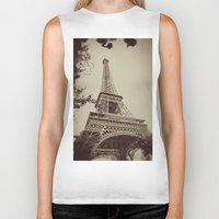 eiffel tower Biker Tanks featuring Eiffel Tower by AngelicaRoesler