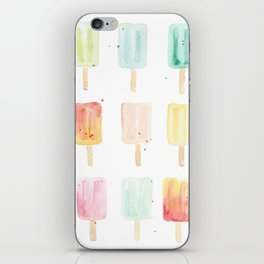 Watercolor Popsicles iPhone Skin