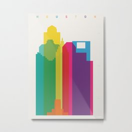 Shapes of Houston. Accurate to scale Metal Print