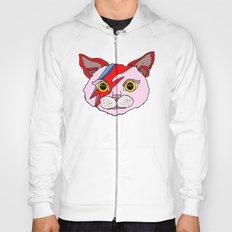 Bowie Cat Head Hoody