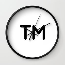 Trademark Symbol Wall Clock
