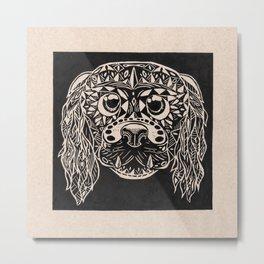 perro grabado Metal Print
