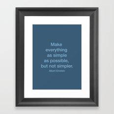 Simpler Framed Art Print