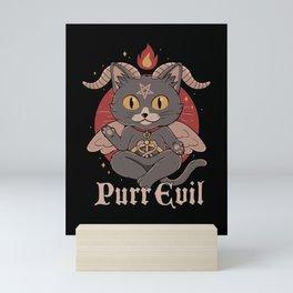 Purr Evil Mini Art Print