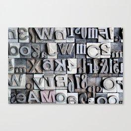 Letterpress Canvas Print