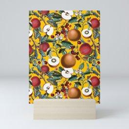 Vintage Fruit Pattern V Mini Art Print