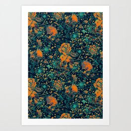 Life and Death Pattern Art Print