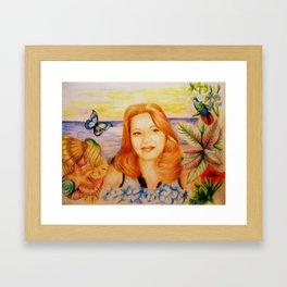 Sissy Loves Blue Framed Art Print