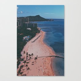 In The Sky Over Hawaii Canvas Print