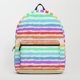 Rainbow lines by hand Backpack