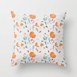 Floral tossed pattern Throw Pillow