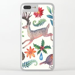Christmas will come again Clear iPhone Case