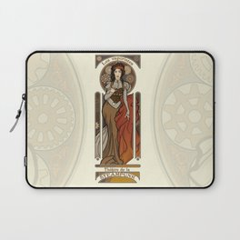 Steampunk Nouveau- Cream Laptop Sleeve