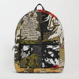 Rider By The Grave By Ivan Biblin Backpack