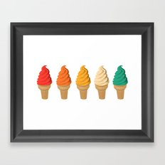 SUMMER CREAM Framed Art Print