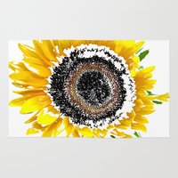 sunflower Area & Throw Rugs featuring Sunflower by Regan's World