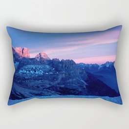 Romantic Sunset in the Snowy Mountains #2 #art #society6 Rectangular Pillow