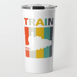 Railroad Railway Locomotive Public Transportation Vintage Style Train Gift Travel Mug