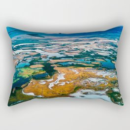 Airplane Window View | Salt Lake City Psychedelic Natural Vibrant Colorful Landscape Rectangular Pillow