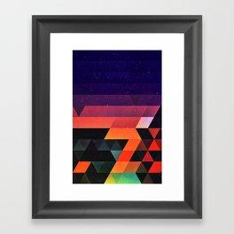 sww fyr Framed Art Print