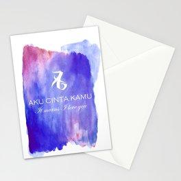 Aku Cinta Kamu Stationery Cards