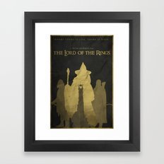 Shadows Shall Spring - The Lord of the Rings Poster Framed Art Print